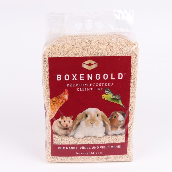 BOXENGOLD® Premium Ecostreu Kleintiere: 4,5 kg Einstreu