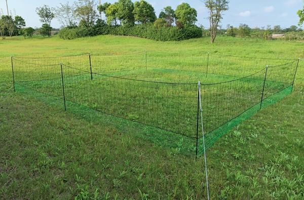 Hühner-Weidezaun, 21 Meter lang, extra hoch (1,25 Meter)